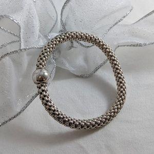 Italian made Sterling silver stretch bracelet